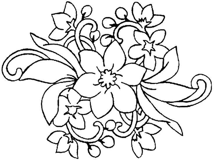 Blume Ausmalbilder  13 besten Blumen Ausmalbilder Bilder auf Pinterest