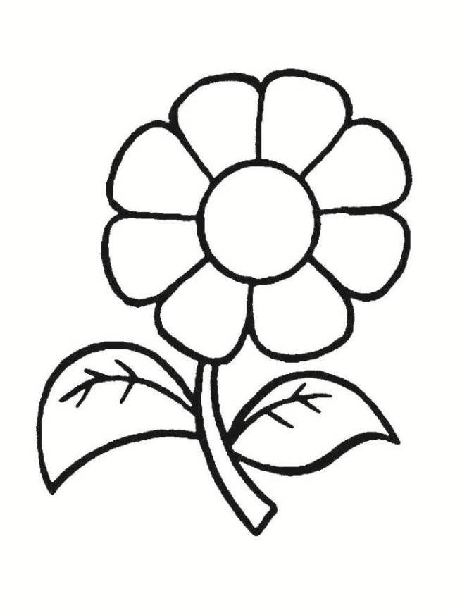 Blume Ausmalbilder  Ausmalbilder Blumen Malvorlagen 01