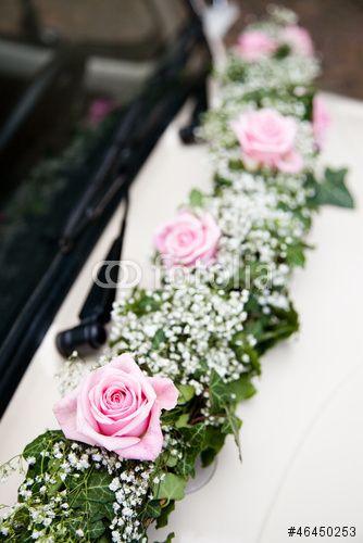 Blumenschmuck Hochzeit Auto  Brautauto Blumenschmuck Blumen