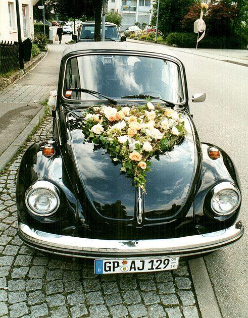 Blumenschmuck Hochzeit Auto  Autoschmuck Hochzeit vw