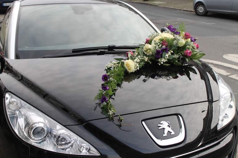 Blumenschmuck Hochzeit Auto  Hochzeit