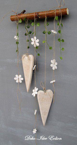 Blumentopf Aufhängen Diy  einfache aber süsse DIY Dekoration Herzen und Blumen an