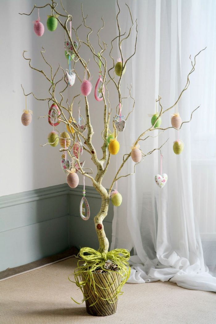 Blumentopf Aufhängen Diy  Osterdeko Ostereier Baum für Innen und Außen und andere