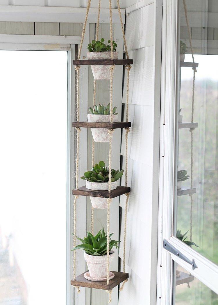 Blumentopf Aufhängen Diy  Blumenständer selber bauen 12 Ideen aus Metall und Holz