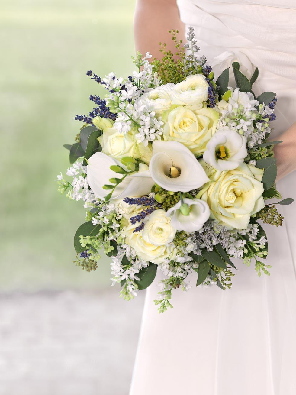 Brautstrauß 2019  Brautstrauß Weiß und Gelb in 2019