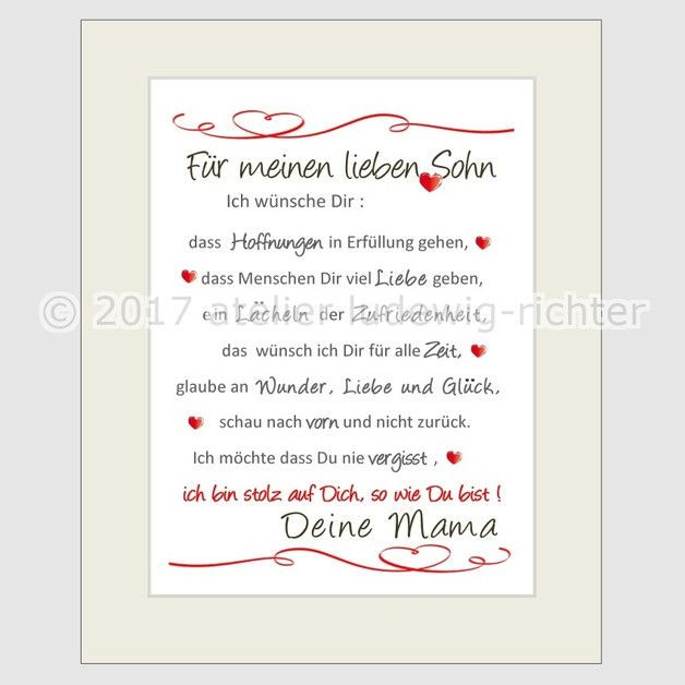 Brief An Meinen Sohn Zur Hochzeit  Sinnliche liebevolle und lustige Spruchbilder für alle