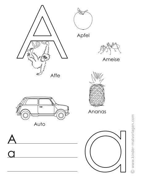 Buchstaben Malvorlagen  Abc Buchstaben Malvorlagen sulurfo