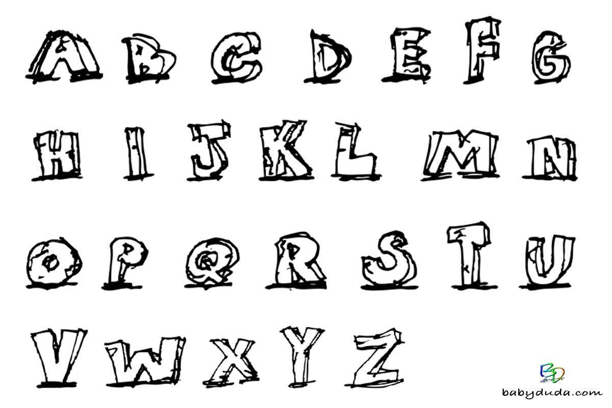 Buchstaben Malvorlagen  Buchstaben ausmalen Alphabet Malvorlagen A Z