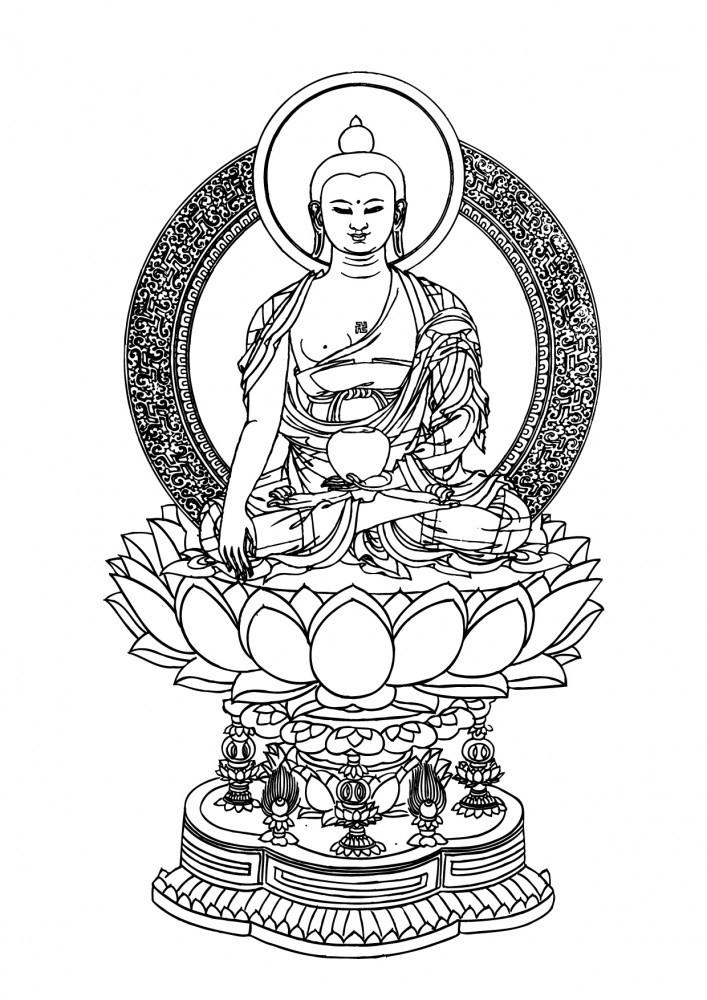 die besten buddha malvorlagen ausdrucken  beste