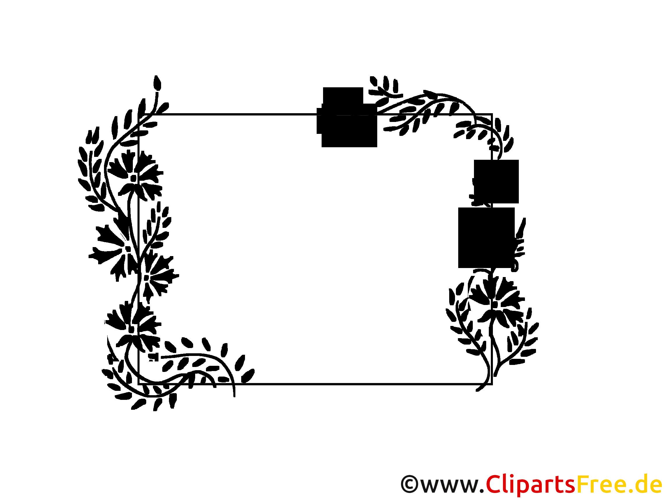 Cliparts Hochzeit Kostenlos Herunterladen  rahmen hochzeit clipart schwarz weiß 6