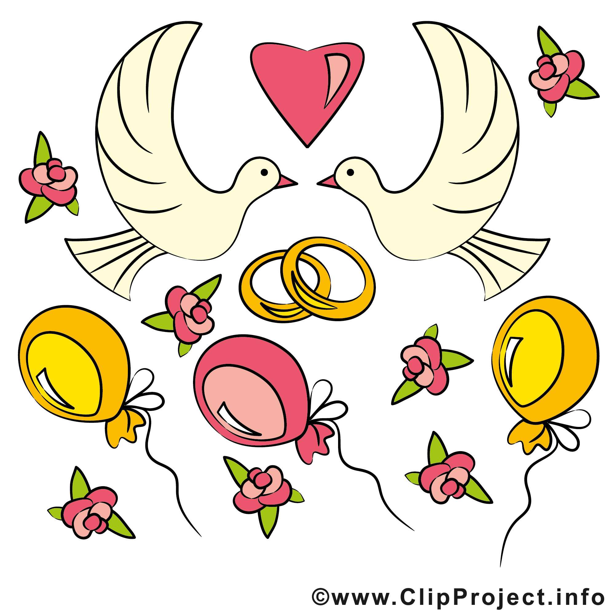 Cliparts Hochzeit Kostenlos Herunterladen  Clipart Glückwunsch zur Hochzeit kostenlos