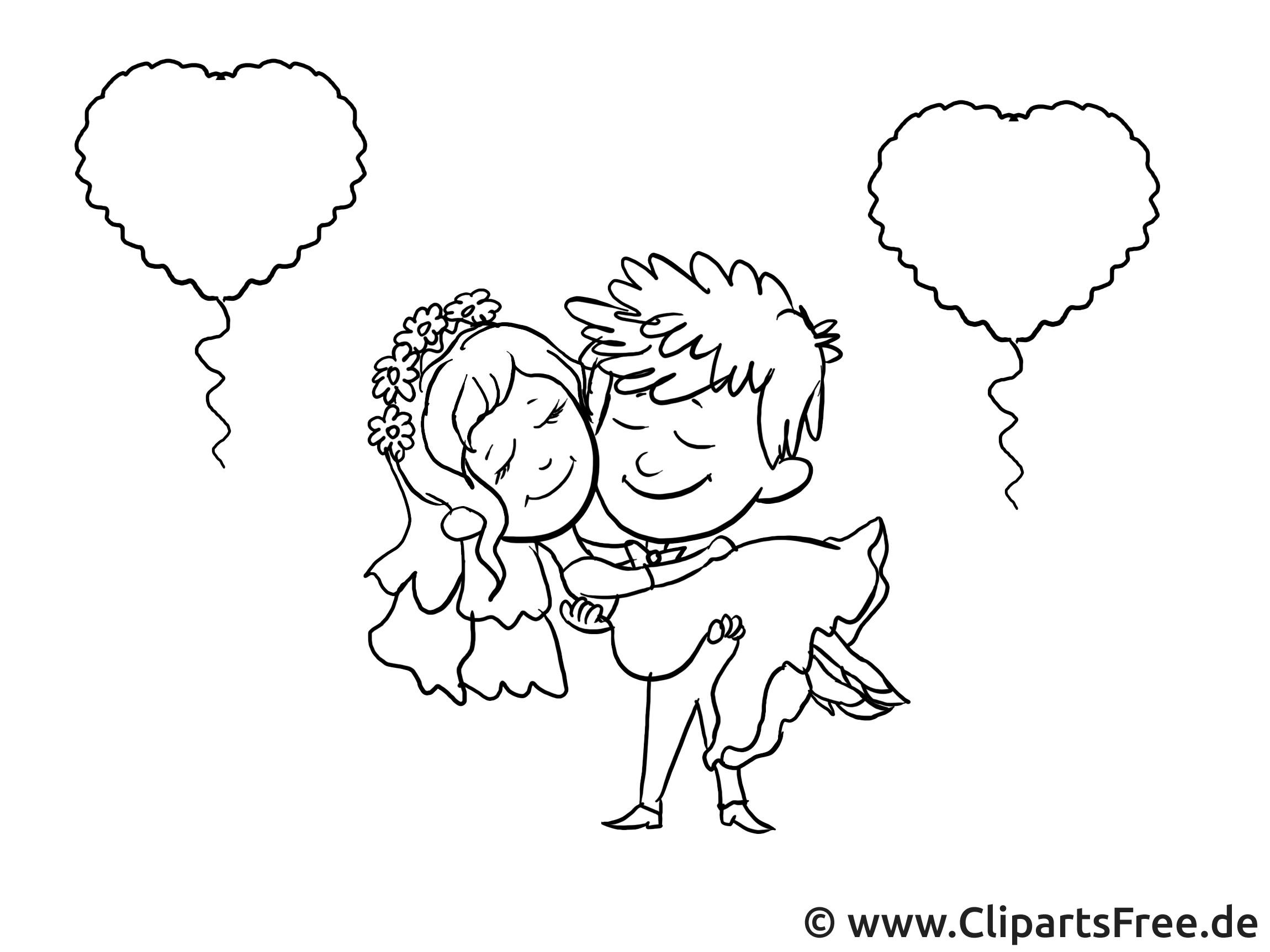 Cliparts Hochzeit Kostenlos Herunterladen  Hochzeit Bild Grafik Clipart schwarz weiss
