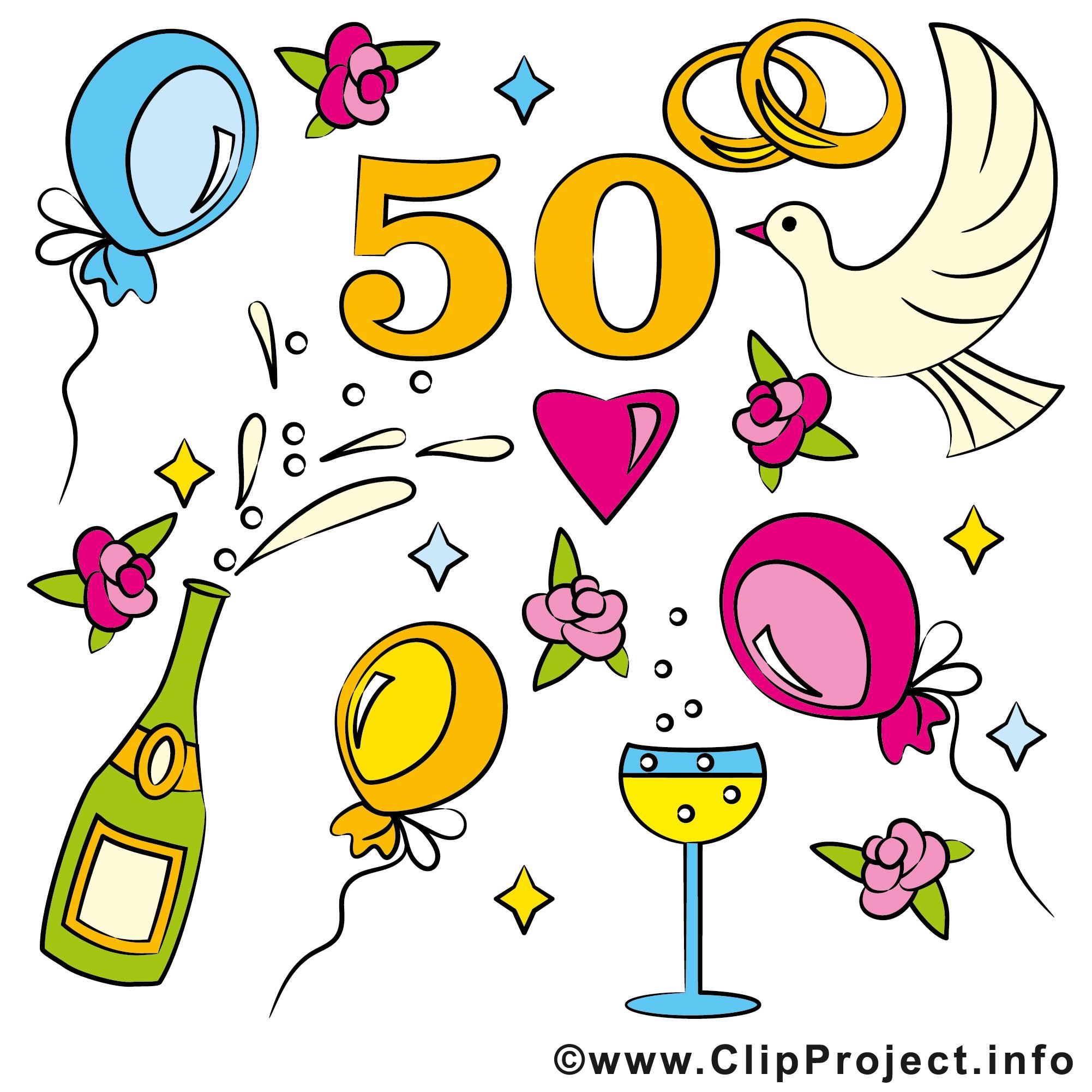 Cliparts Hochzeit Kostenlos Herunterladen  Hochzeitstage 50 Goldene Hochzeit Gluckwunschkarte
