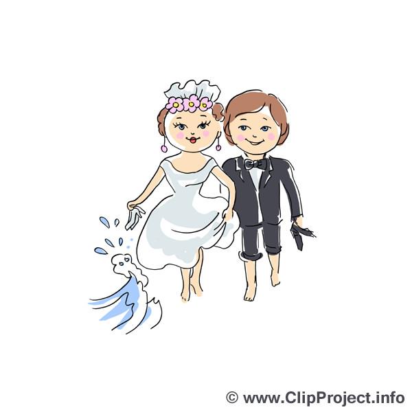 Cliparts Hochzeit Kostenlos Herunterladen  Brautpaar Clipart zu Hochzeit kostenlos