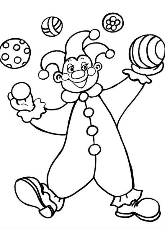 Clown Ausmalbilder  Schöne Malvorlagen Ausmalbilder Clown ausdrucken 1