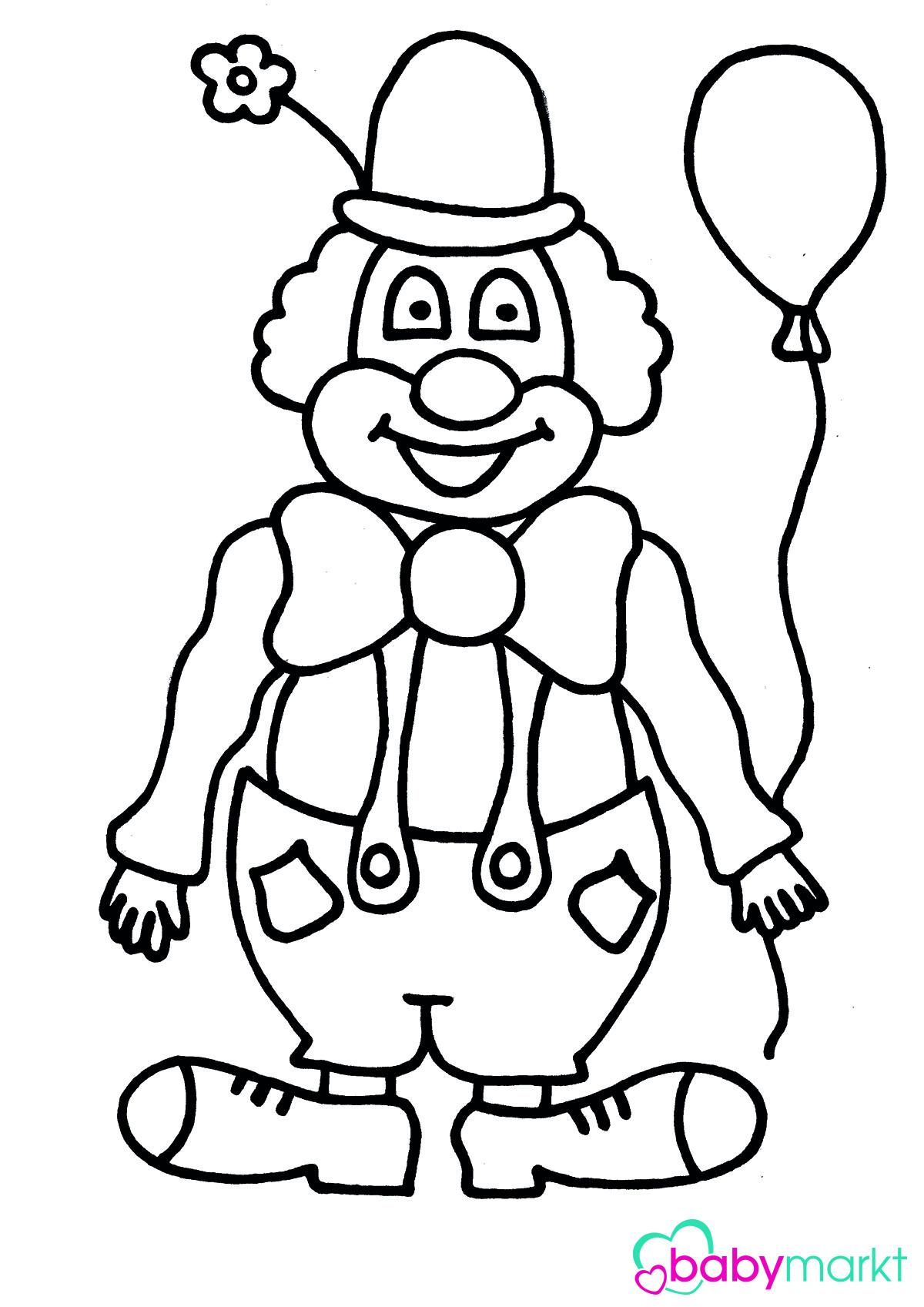 Clown Ausmalbilder  Clown zum Ausmalen babymarkt Ratgeber