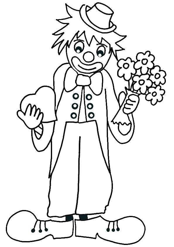 Clown Ausmalbilder  ausmalbilder clown 4