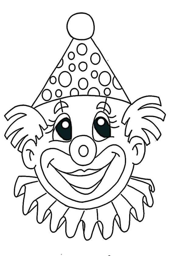 Clown Ausmalbilder  ausmalbilder clown 2 Vorlagen Brandmalerei