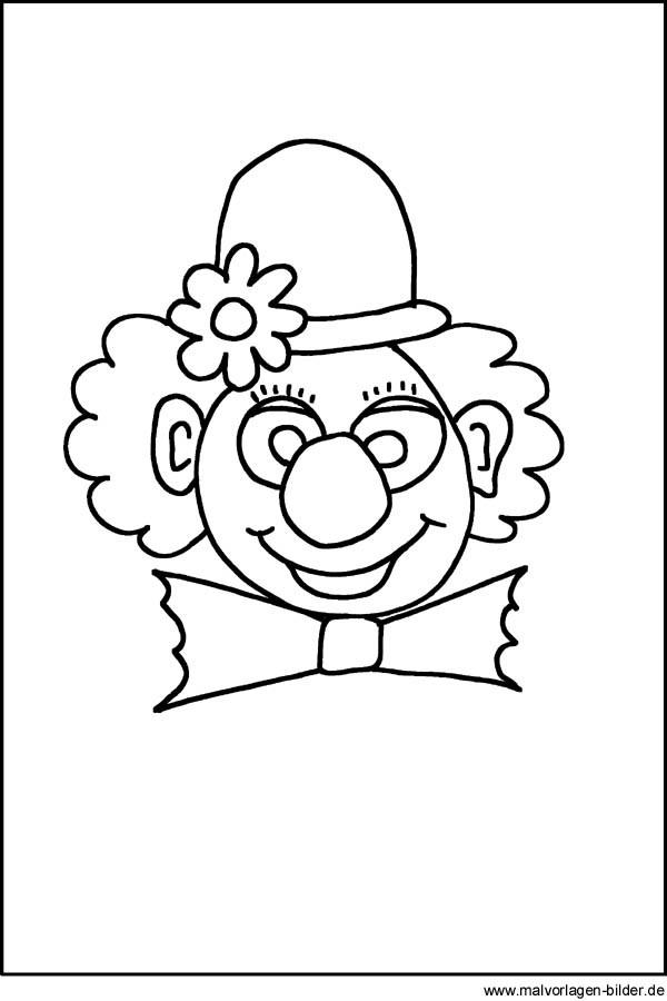 Clown Ausmalbilder  Ausmalbilder für Kinder Malvorlagen und malbuch