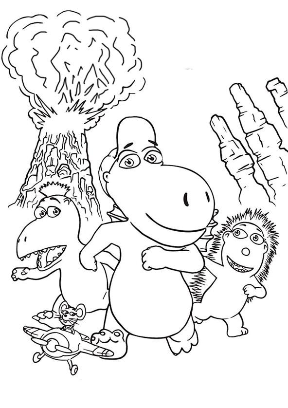 Der Kleine Drache Kokosnuss Ausmalbilder  Drache Kokosnuss 5