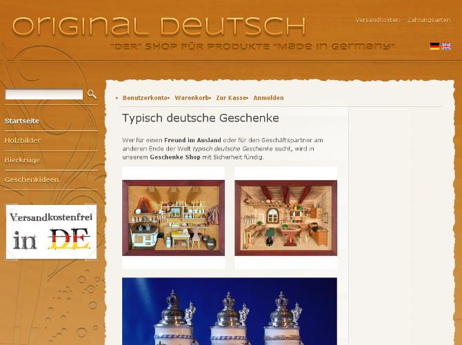 Deutsche Geschenke  Magento Shop für typisch deutsche Geschenke