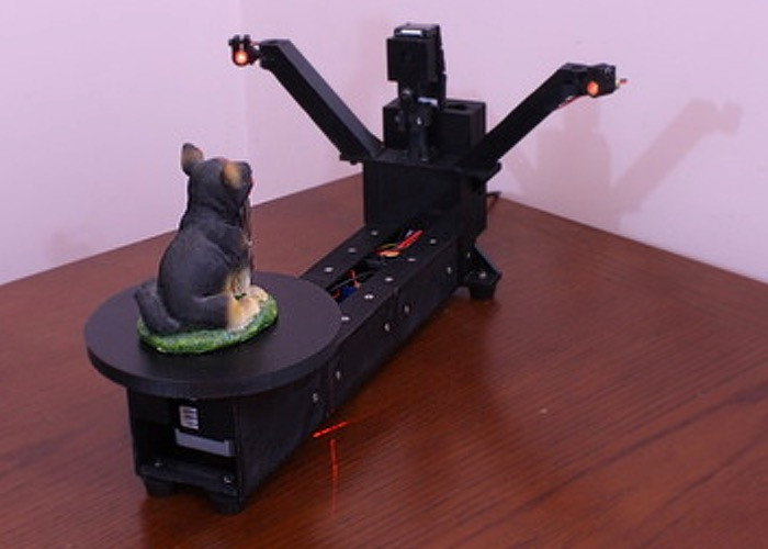 Diy 3D Scanner  DIY Raspberry Pi 3D Scanner Launches Kickstarter video