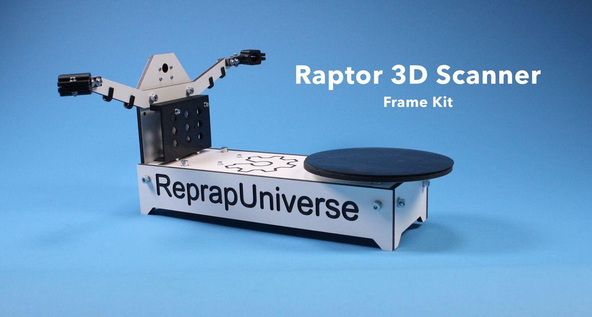 Diy 3D Scanner  Raptor 3D Scanner DIY Frame Kit ReprapUniverse