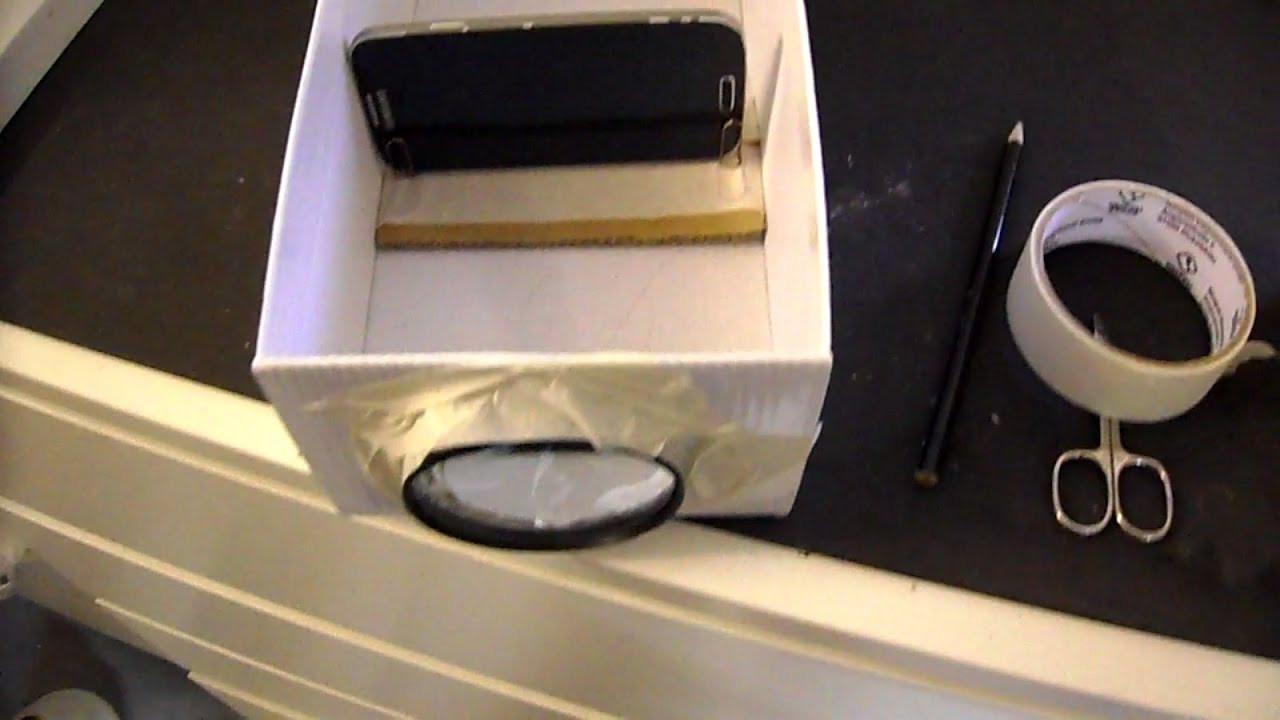 Diy Beamer  DIY Smartphone Beamer selber bauen geht ganz einfach