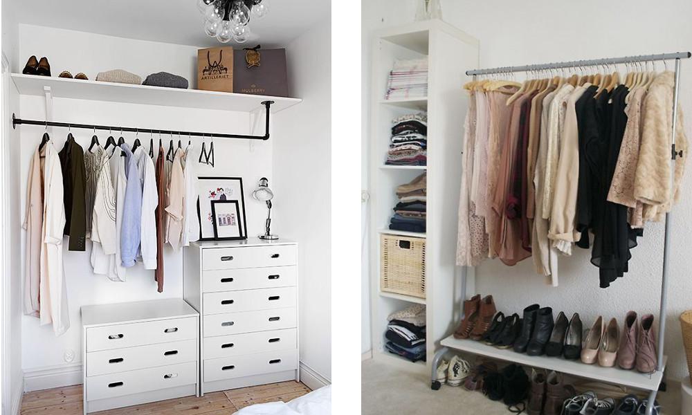 Diy Begehbarer Kleiderschrank  Kleiderstange gesucht mit Foto weiß jemand woher