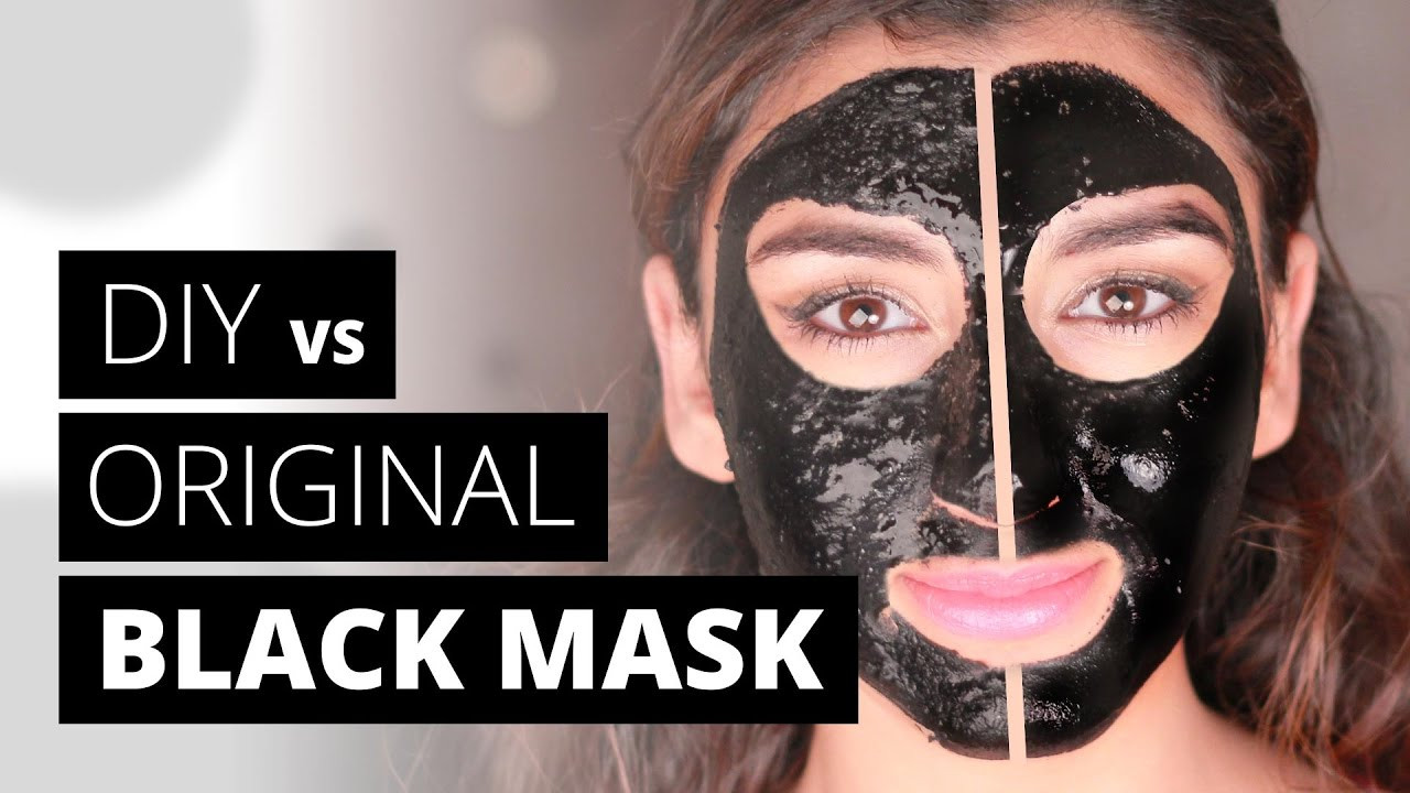 Diy Blackhead Maske  DIY vs ORIGINAL BLACK MASK Blackhead Remover