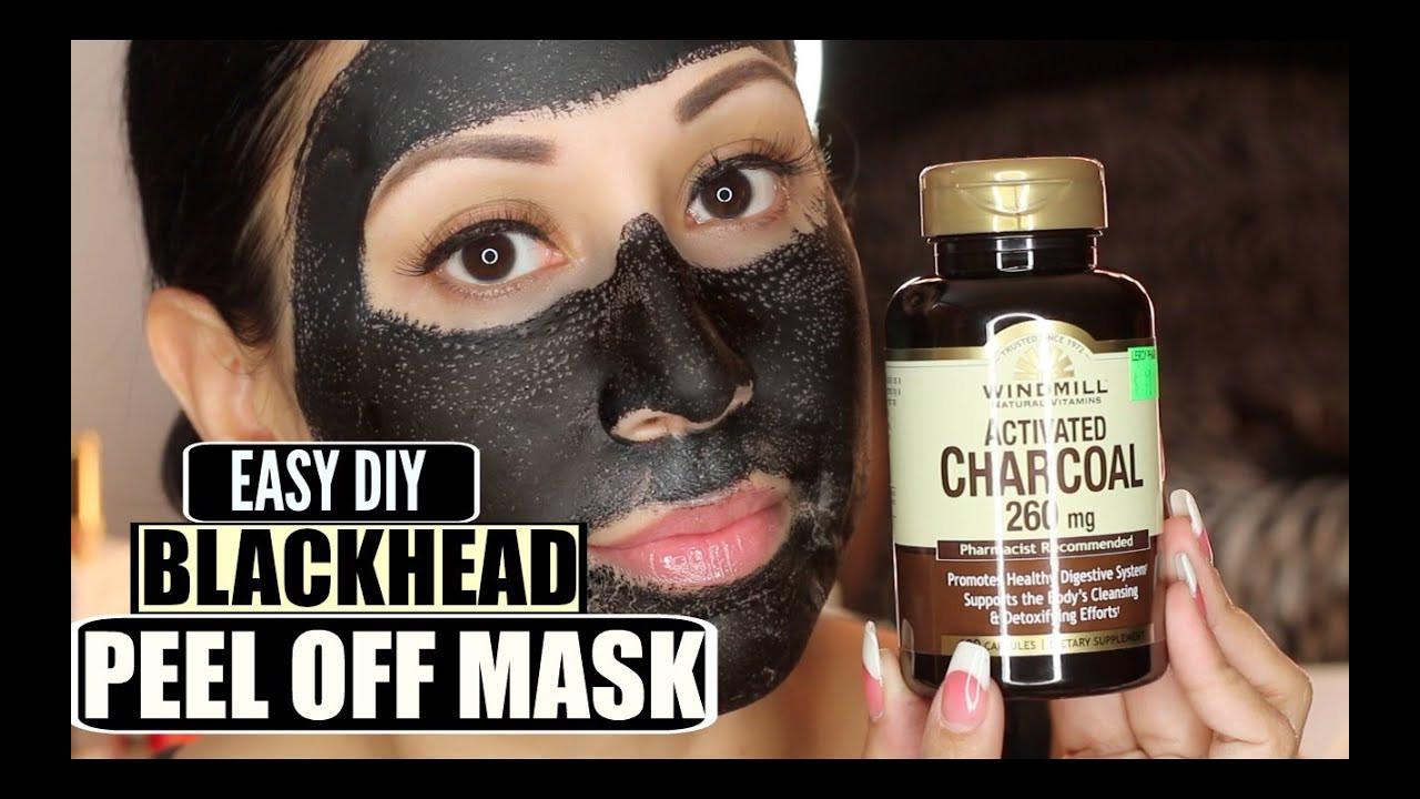 Diy Blackhead Maske  Easy DIY Blackhead Remover Peel f Mask Peeling off