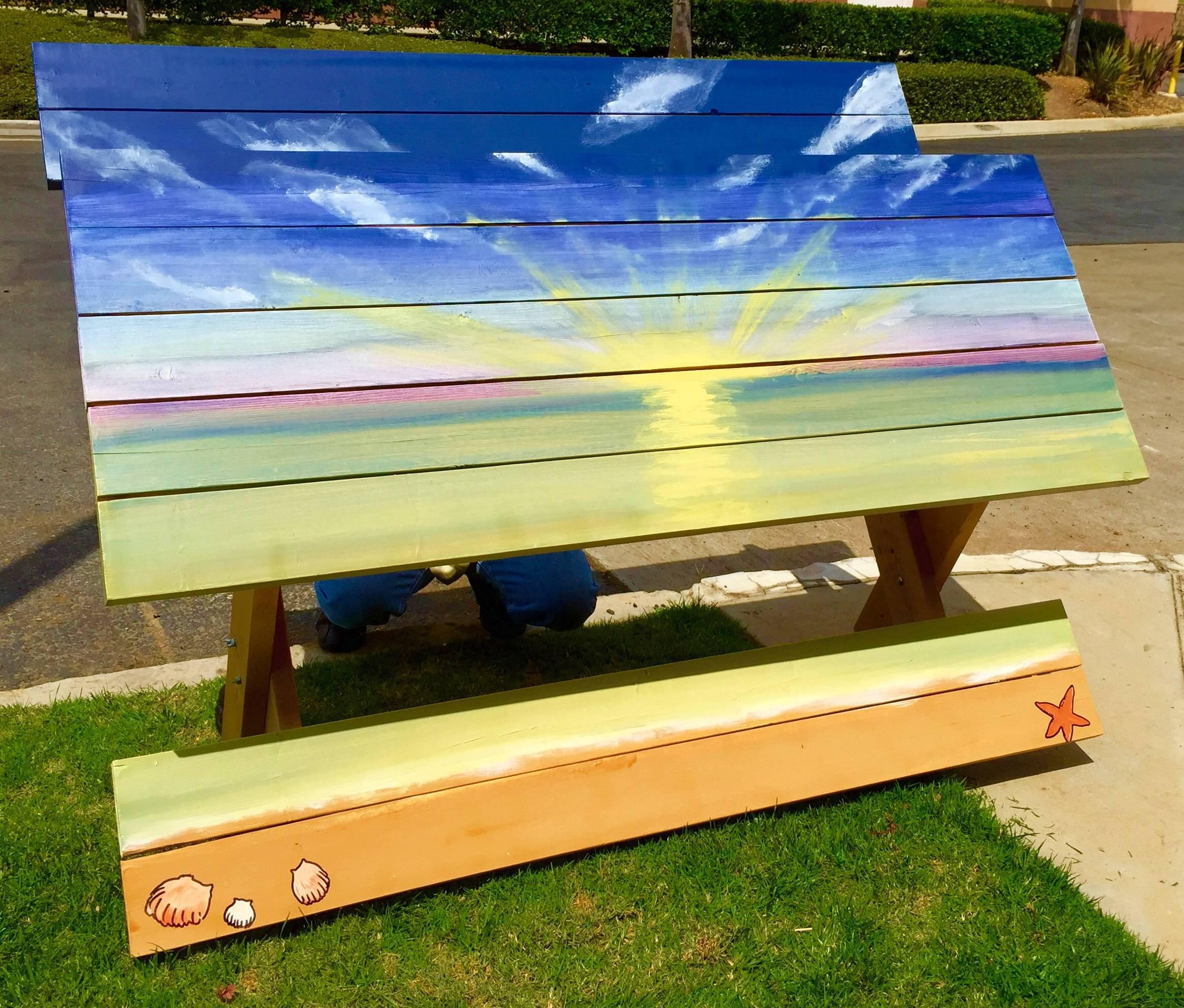 Diy Community  DIY Custom Painted Picnic Table