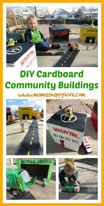 Diy Community  DIY Cardboard munity Buildings Mama s Happy Hive