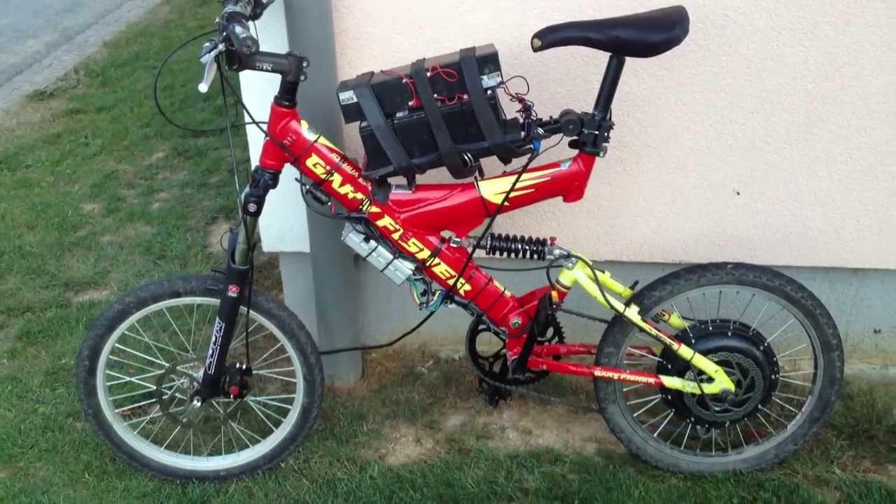 Diy Ebike  DIY E Bike 72V 25A MXUS Motor 40mpH
