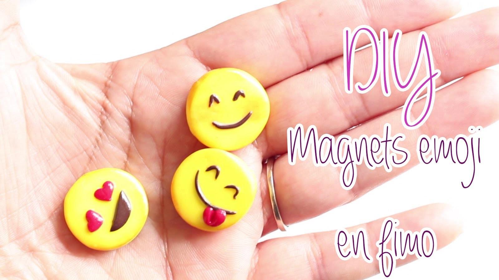 Diy Fimo  DIY TUTO Magnets emoji en fimo Polymer clay tutorial