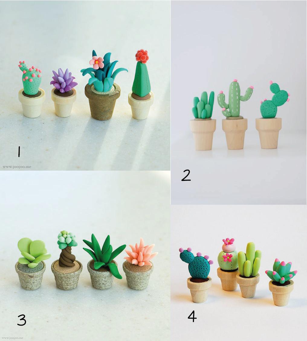Diy Fimo  Mouton Rêveur 6 DIY cactus à réaliser