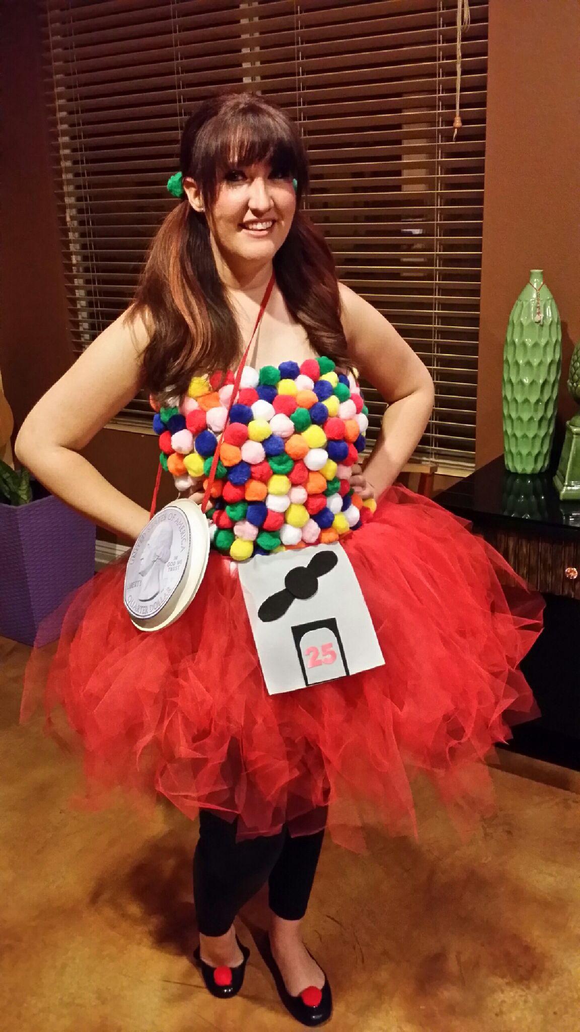 Diy Halloween Kostüm  DIY Halloween Costume Gumball Machine