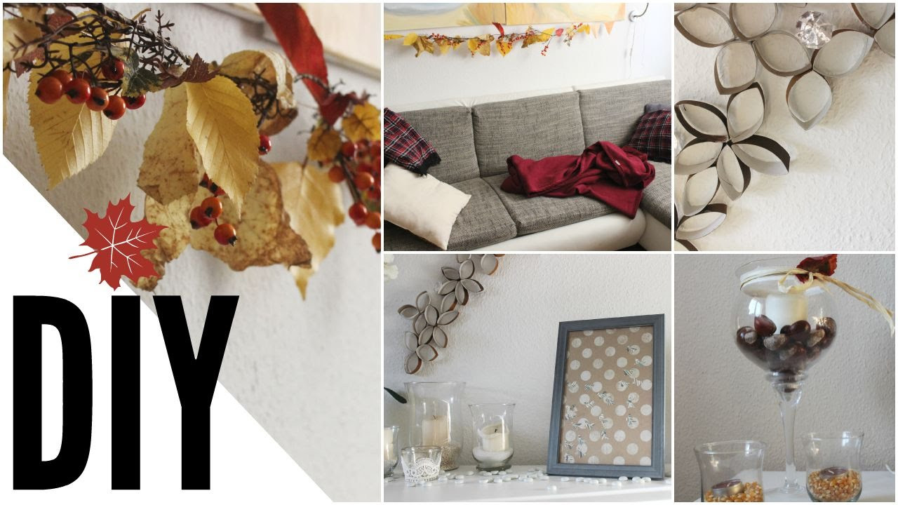 Diy Herbst  DIY Herbst Raumgestaltung DEKO I Autumn Room