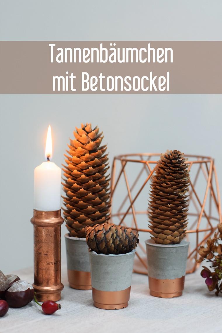 Diy Herbst  DIY Beton Tannenbäumchen Weihnachten Herbst Deko