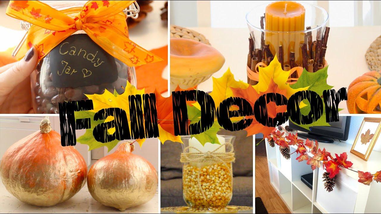 Diy Herbst  DIY Fall Room Decor Einfache & Gemütliche Herbst Deko