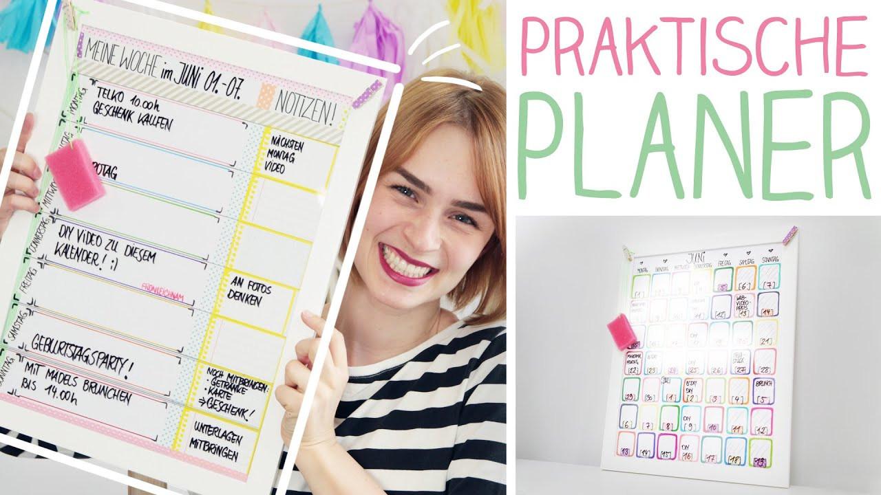 Diy Kalender Gestalten  DIY Wochen Monatsplaner mega easy Kalender selbst