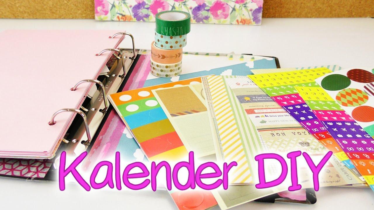 Diy Kalender Gestalten  Kalender DIY