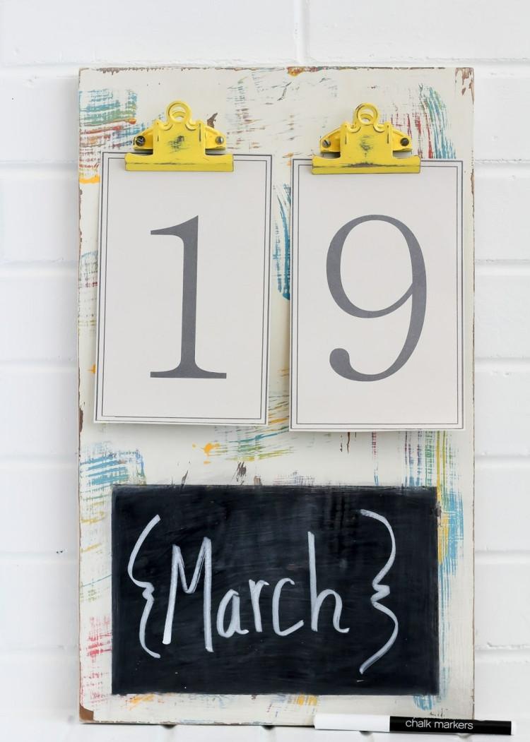 Diy Kalender Gestalten  Kalender selbst gestalten 12 nützliche Bastelideen für