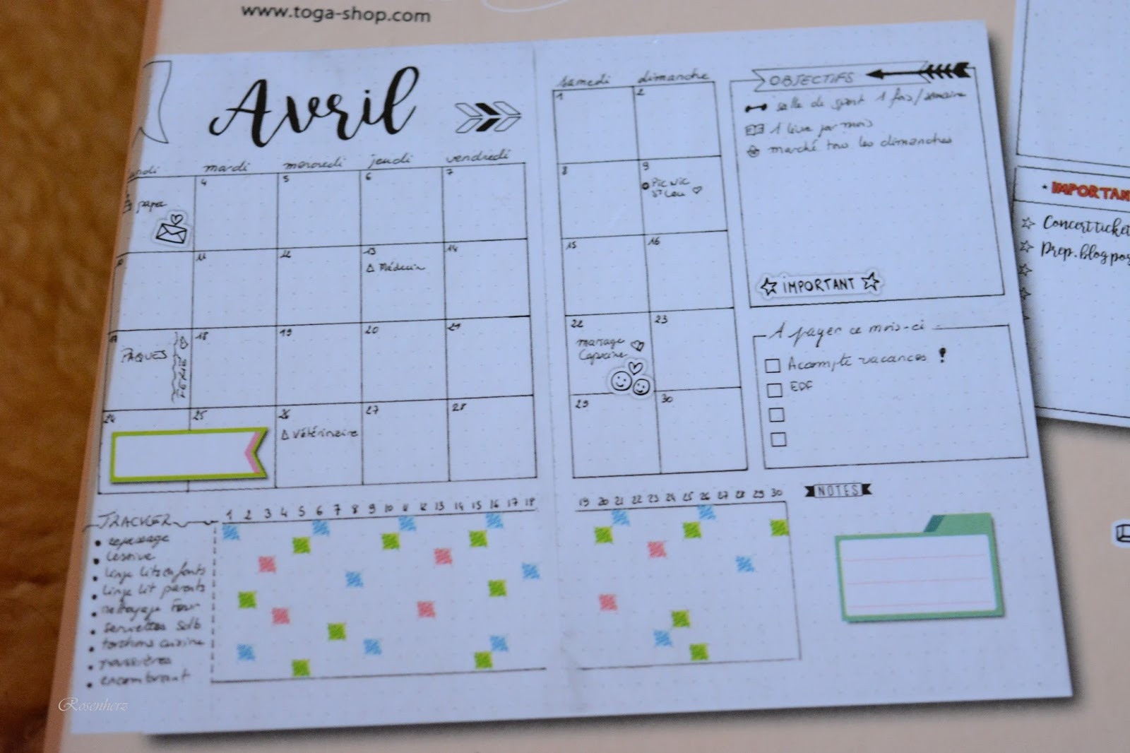 Diy Kalender Gestalten  Rosenherz DIY Kalender gestalten