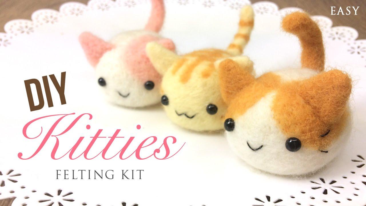 Diy Kawaii  Kawaii DIY Kittens Relaxing ASMR Craft Tutorial