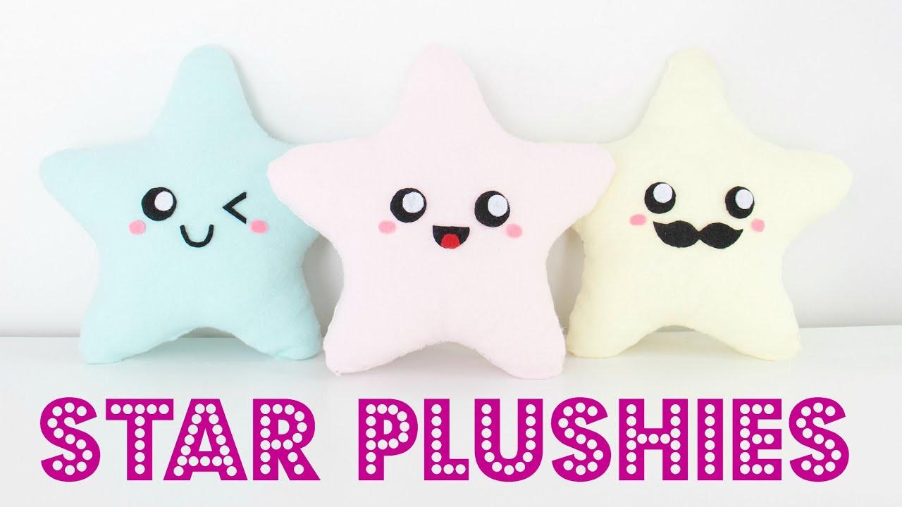 Diy Kawaii  DIY Easy Kawaii Star Plush Pillows Easy Room Decor