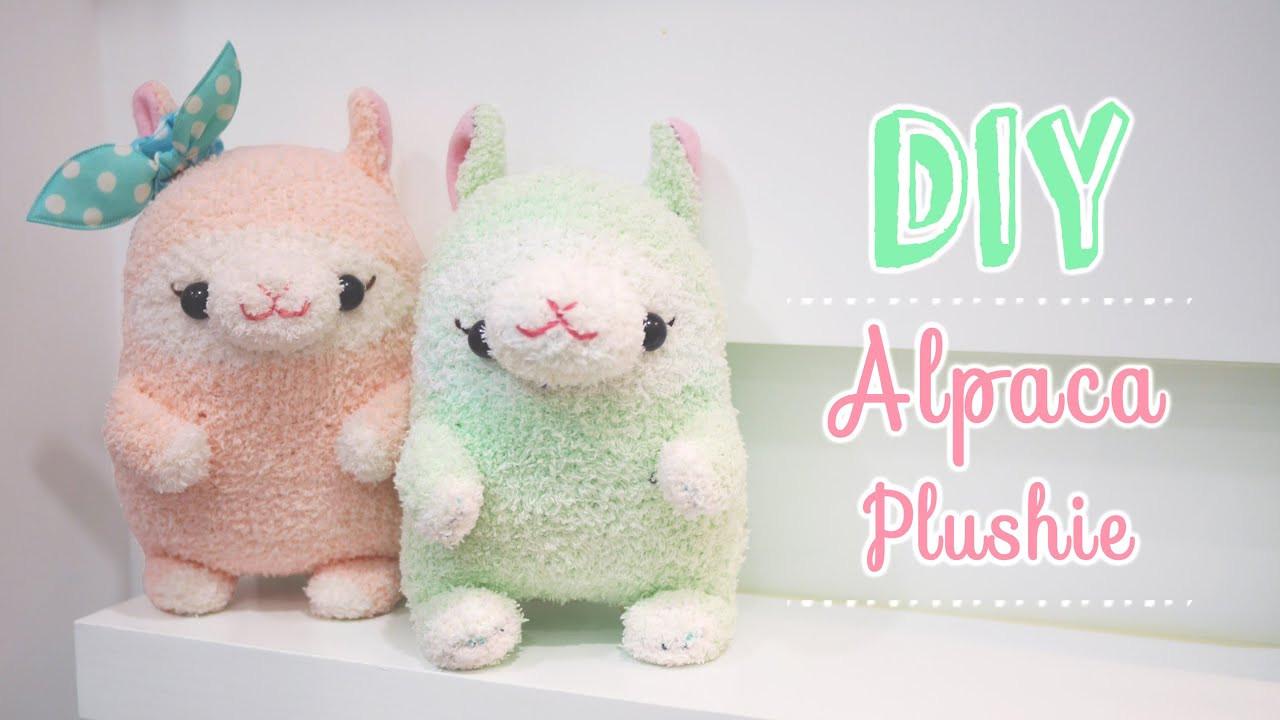 Diy Kawaii  Kawaii Alpaca Sock Plushie Tutorial DIY