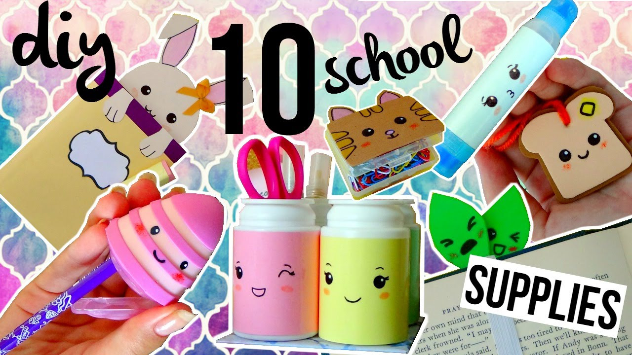 Diy Kawaii  10 DIY KAWAII School Supplies 10 Stationery ideas for