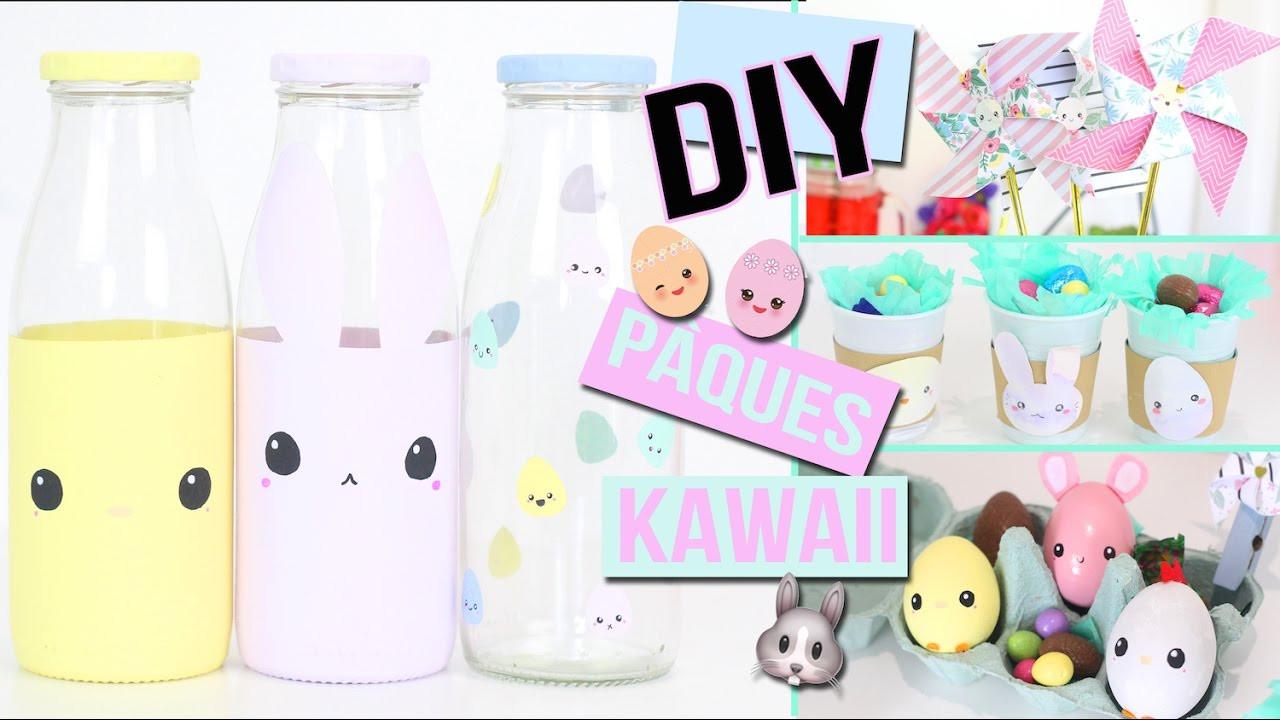 Diy Kawaii  DIY ┋ PAQUES DECO KAWAII AVEC PRESQUE RIEN 🐰 Chambre salon