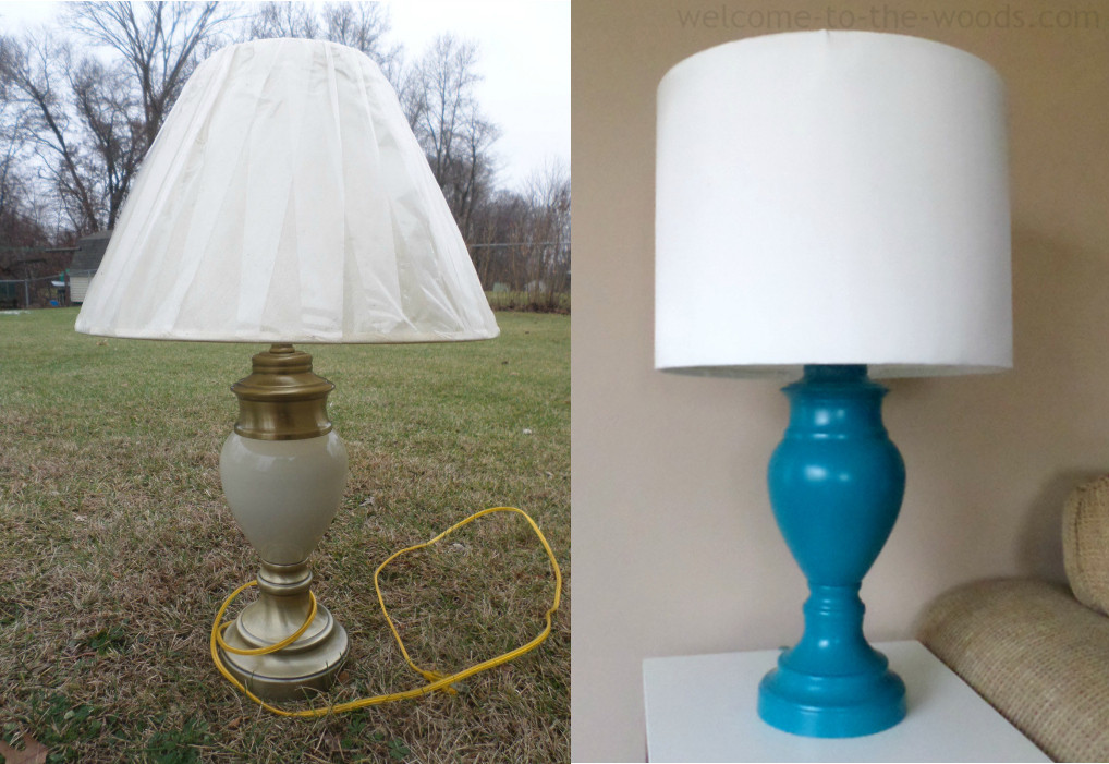 Diy Lampshade  DIY Lamp Shade & Base Wel e to the Woods